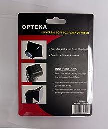 Opteka SB-1 Universal Studio Soft Box Flash Diffuser for Canon EOS, Nikon, Olympus, Pentax, Sony, Sigma, & Other External Flash Units