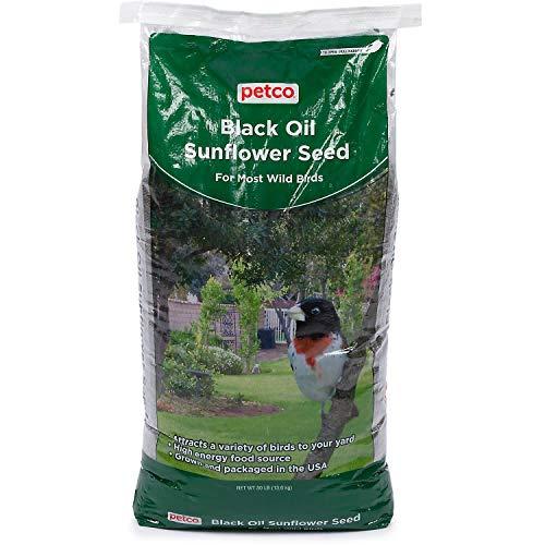 Petco Black Oil Sunflower Seed Wild Bird Food, 30 lb Bag, 30 LBS