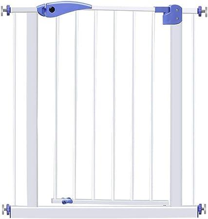 H.yina Puertas metálicas para Perros para Pasillo de Escalera, Puertas Protectoras para bebés Blancas con Protector de Pared con Puerta de Cierre automático, 65-74 cm de Ancho: Amazon.es: Hogar