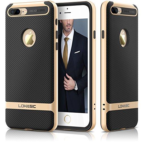 LOHASIC iPhone 7 ケース,カーボンファイバー 軽量 衝撃吸収...