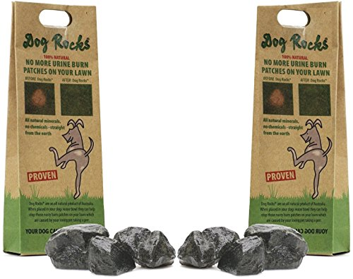 - (2 Pack) Dog Rocks Prevent Grass Burn Marks, 4 Month Supply