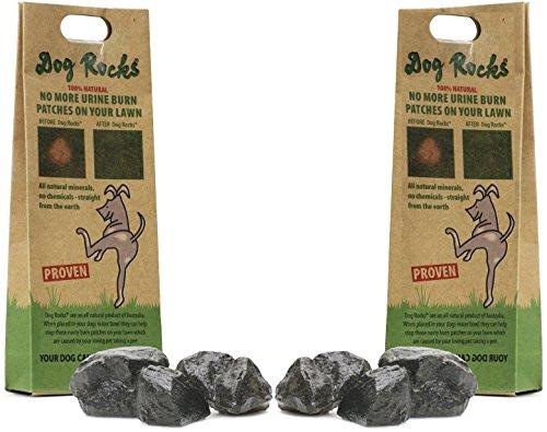 (2 Pack) Dog Rocks Prevent Grass Burn Marks, 4 Month Supply