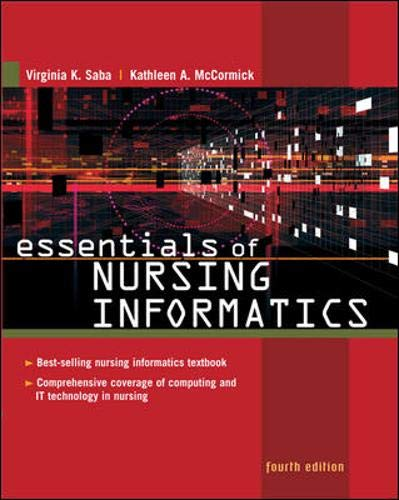 Essentials of Nursing Informatics (Saba, Essentials of Nursing Informatics)