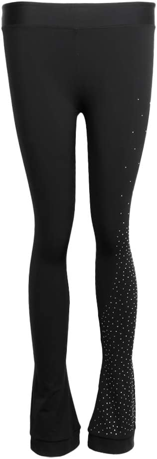 CUTICATE Frauen M/ädchen Eiskunstlaufkleid Praxis Fleece Hosen Hosen Strumpfhosen