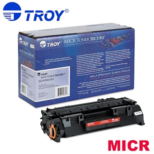 TROY 02-81500-001 OEM Toner - 2035 2055 MICR Toner Secure Cartridge (2300 Yield) (Compatible with HP Laserjet P2035 P2055 Printers HP Toner OEM# CE505A) ()