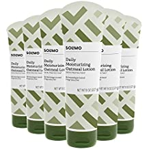 Amazon Brand - Solimo Daily Moisturizing Oatmeal Lotion, Fragrance Free, 8 Ounce (Pack of 6)