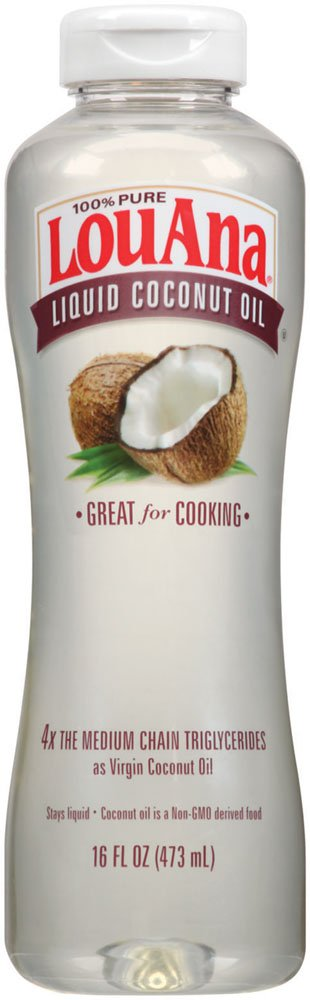 LouAna Liquid Coconut Oil, 16 oz, Great For Cooking by LouAna