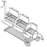 64'' x 20'' BBQ Smoker/Pit & Grill Plans Blueprints - Model SP-1302