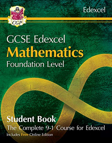 New Grade 9-1 GCSE Maths Edexcel Student Book - Foundation (with Online  Edition) (CGP GCSE Maths 9-1 Revision)