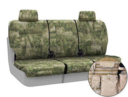 Coverking Custom Fit Front 40/20/40 Split Bench Tactical Seat Cover for Select Lincoln Town Car Models - Cordura/Ballistic A-TACS Camo (Foliage/Green) ()
