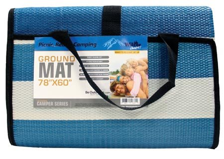 Compact Outdoor Ground Mat for Picnics, RV, Beach, Camping, 60x78-inch, (Random Color)