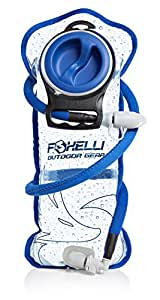 #1 BEST Foxelli Hydration Bladder Bag, 2L Reservoir Pack with Insulated Hose, Wide Opening, BPA-Free, Antibacterial, Taste-Free, Easy to Clean, Military Leak-Proof Water Storage System for Backpacks