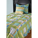 Rizzy Home Plaid 4-Piece Kids Comforter Set, Full/Queen