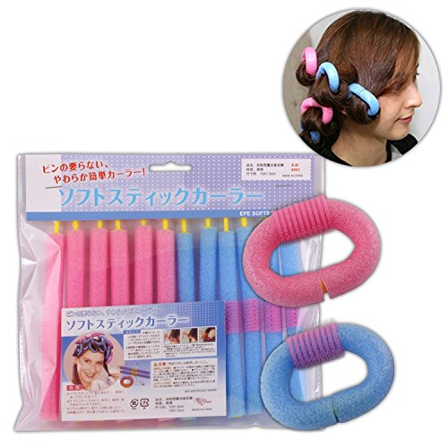 Flexible Girl - Healthcom 24 Pack Hair Styling Twist-flex Rods Flexible Curling Rods Hair Rollers for Girls and Women