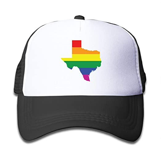 d9529b25c Amazon.com: Texas LGBT Pride On Boys and Girls Trucker Hat, Youth ...