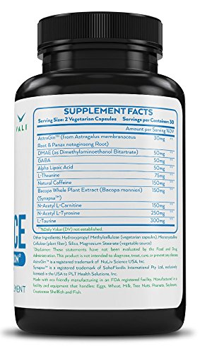 Brain-Booster-Supplement-for-Focus-Memory-Clarity-Energy-60-Veggie-Pills-Cognitive-Function-Support-for-Optimal-Mental-Performance-Advanced-Stack-Smart-Natural-Extra-Strength-Premium-Formula