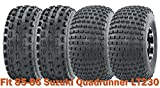 Set of 4 Sport ATV tires 21x8-9 & 22x11-8 for 85-86 Suzuki Quadrunner LT230