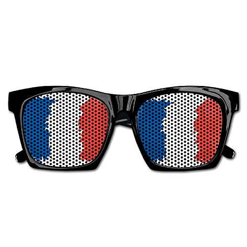 Elephant AN Themed Novelty Flag Of France Fashionable Visual Mesh Sunglasses Fun Props Party Favors Gift - France Sunglasses