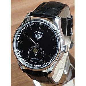 Parnis Big Calendar Men Automatic Watch Seagull Movement ST25