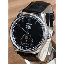 Parnis Big Calendar Men Automatic Watch Seagull Movement ST25