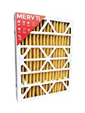 16x25x4 MERV 11 AC Furnace 4'' Inch Air Filters.  Qty 2  (Actual Depth: 3-3/4'')