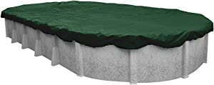 Pool Mate 321632-4-PM Heavy-Duty Winter Oval Above-Ground Pool Cover, 16 x 32-ft, Grass Green