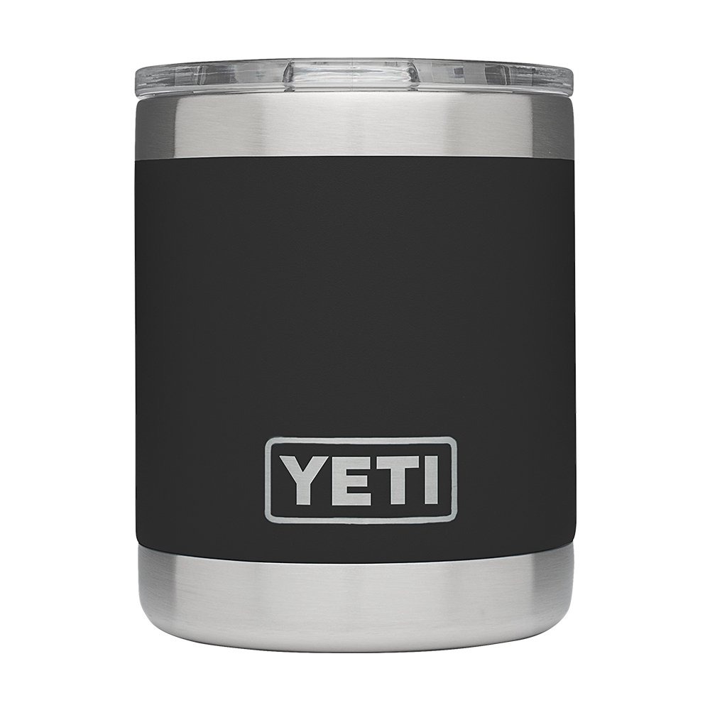 YETI Rambler 10oz Vacuum Insulated Stainless Steel Lowball with Lid, Black DuraCoat by YETI