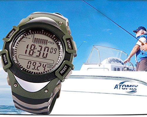 [Digital Fishing Barometer Fish-Finder Wrist Watch Waterproof Multi-function] (Wrist Mount Fishfinder)