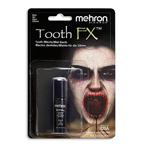Mehron Makeup Tooth FX with Brush (.25 ounce) (Black)