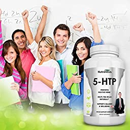 5-HTP Supplement - Boosts Serotonin – Improves Mood – Increases Energy – Supports Healthy Sleep Patterns – All Natural Griffonia Seed Extract – Order Risk Free!