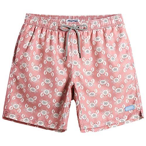 MaaMgic Fashion Short Mens Swim Trunks Boardshorts Quick Dry Swimwear with Mesh Lining/Pockets