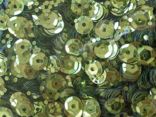 efco Paillettes Rotonde coppate /ø 6 mm 40 g Verde Chiaro ~ 4.000 pz Oro