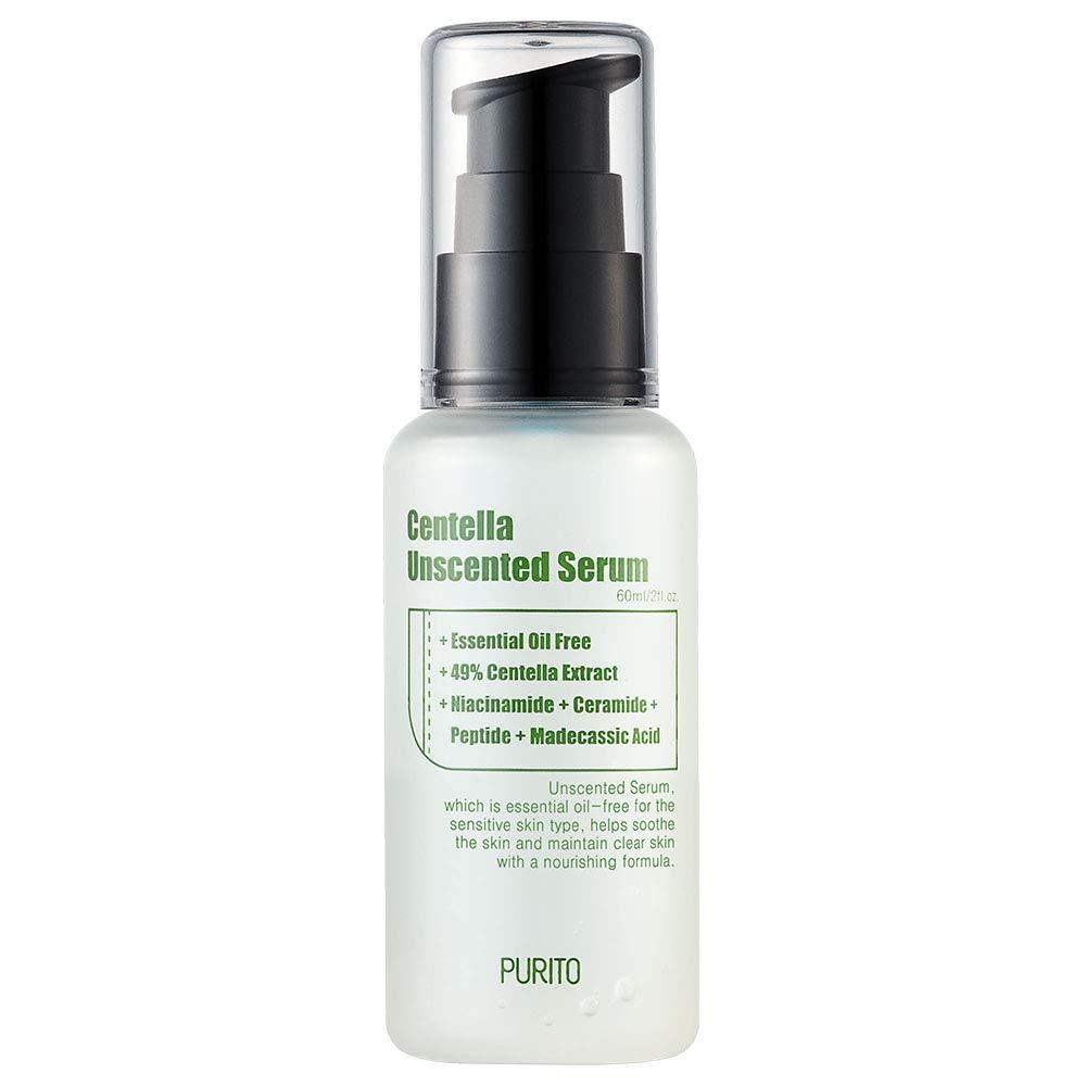 PURITO Centella Unscented Serum 60ml/ 2 fl.oz, serum for face, Centella Asiatica,Recovery facial SERUM,Calming soothing Serum