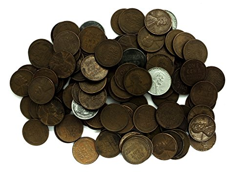 - 1 P, D, S Wheat Pennies Collection of 100 Various Dates + Bonus 10 Coins Circulated