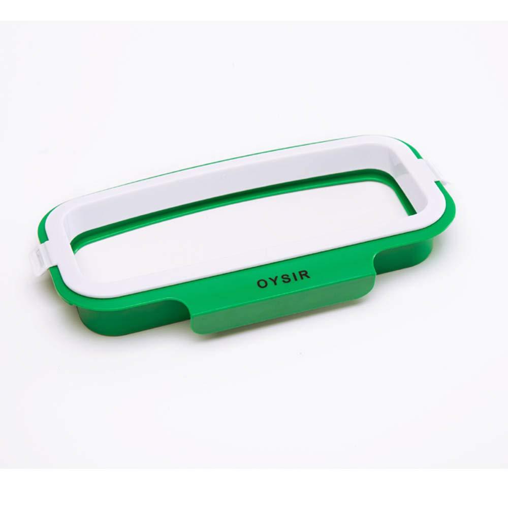 Trash Bag Holder Rack - Multi for Kitchen Cabinet Door Storage Cupboard (Buckle Plastic-Holder), Kitchen Towel Rails Rack, Green OYSIR COMIN18JU071366