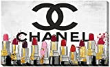 Picture Perfect International ''Chanel Lipsticks'' by Working Girls Design Giclee Stretched Canvas Wall Art, 24'' x 40'' x 1''