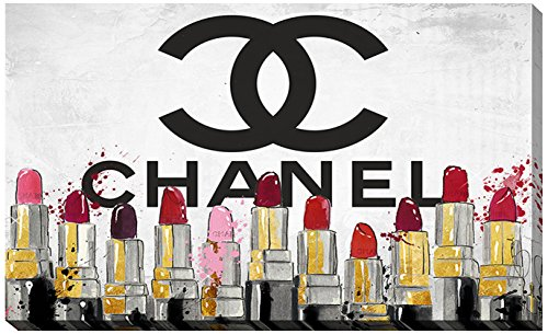 Picture Perfect International ''Chanel Lipsticks'' by Working Girls Design Giclee Stretched Canvas Wall Art, 24'' x 40'' x 1'' by Picture Perfect International
