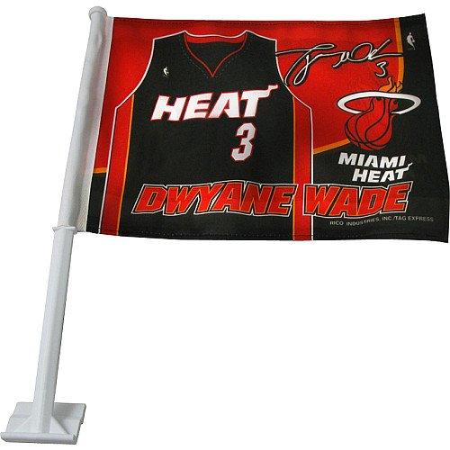 miami heat car flag - 6