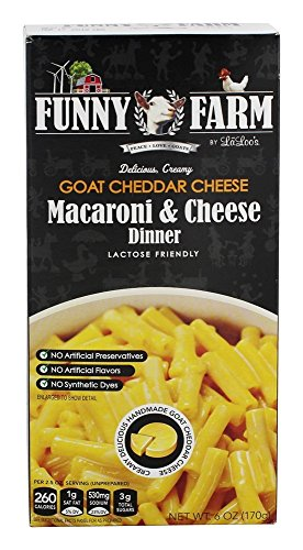Farm Cheddar (Funny Farm - Macaroni & Cheese Dinner Goat Cheddar Cheese - 6 oz.)