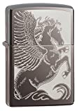 Zippo Pegasus  Black Ice Pocket Lighter