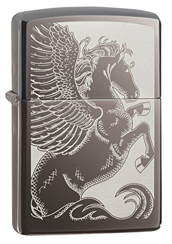 Zippo Pegasus  Black Ice Pocket Lighter