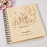 GiftsForYouNow Engraved 21st Birthday Memories Photo Album, Holds 72 4'' x 6'' Photos