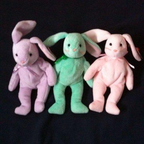 Hoppity Bunny - Ty Hippity, Hoppity and Floppity Easter Bunnies MINT w/TAGS!