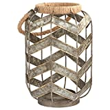 Stone & Beam Vintage Farmhouse Metal and Rope Decorative Candle...