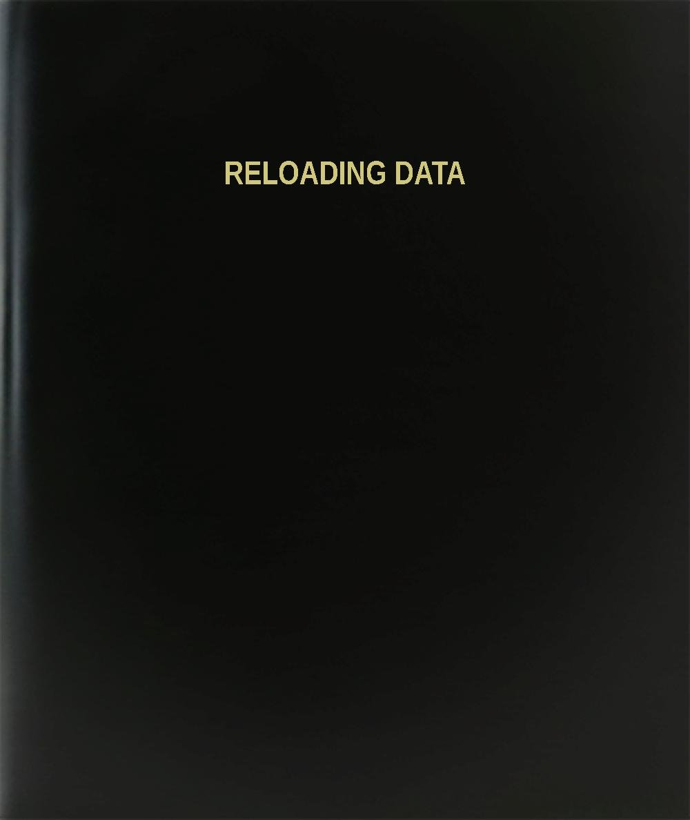 BookFactory® Reloading Data Log Book / Journal / Logbook - 120 Page, 8.5''x11'', Black Hardbound (XLog-120-7CS-A-L-Black(Reloading Data Log Book))