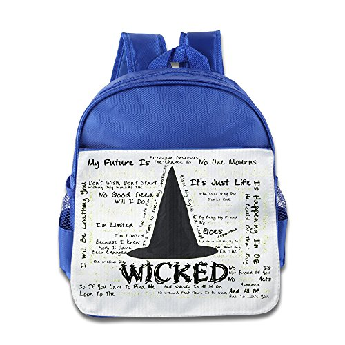 HYRONE Wicked Musical Kids Schoolbag For 1-6 Years Old RoyalBlue (Wicked Witch Of The West Socks)