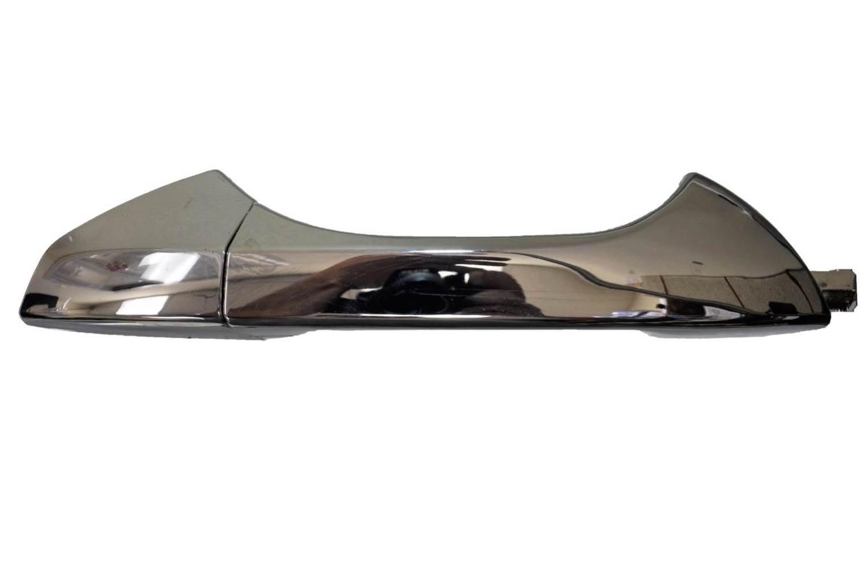 Exterior Outer Outside Door Handle PT Auto Warehouse NI-3121M-RRK Chrome Rear Right Passenger Side