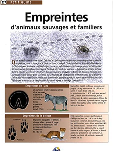 Livre gratuits en ligne Empreintes d'animaux sauvages et familiers pdf