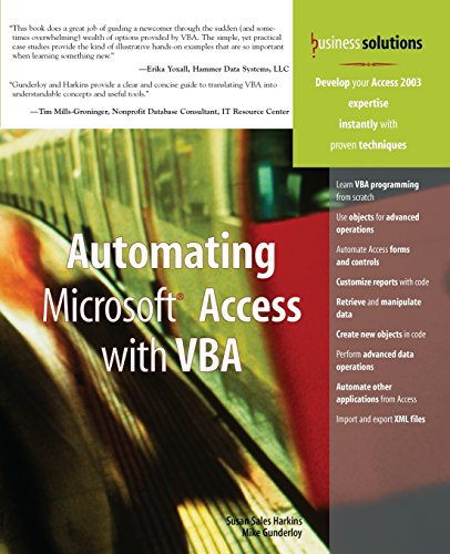 Automating Microsoft Access with VBA by Brand: Que Publishing