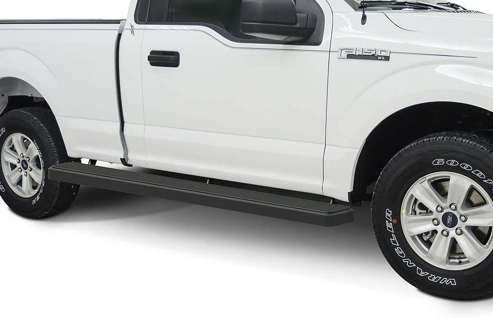 Amazon Com Aps Wheel To Wheel Running Boards 6in Compatible With Ford F150 2015 2021 Regular Cab 6 5ft Bed F 250 F 350 Super Duty 2017 2021 Nerf Bars Side Steps Side Bars Automotive